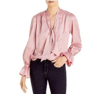 NWT Lini Anya Neck Tie Blouse Rose Size Small